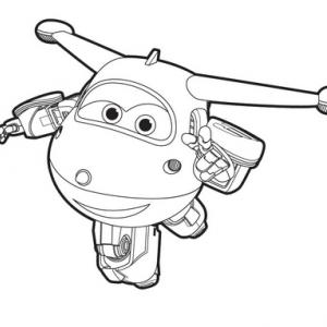 Un dessin à imprimer à télécharger gratuitement de Jett de Super Wings copie