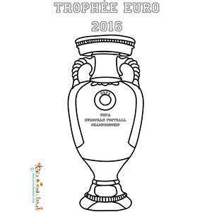 Coloriage de la coupe de l'Euro 2016
