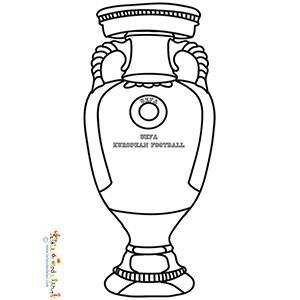 Coloriage de la coupe trophée de l'Euro 2016