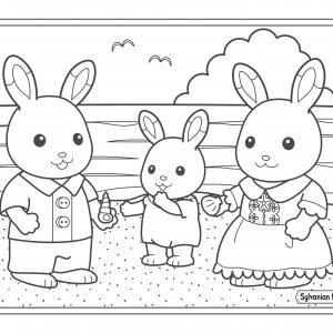 Un dessin à imprimer de maman et papa lapin sur la plage