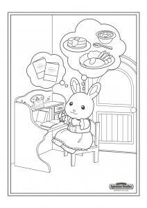 Un dessin à imprimer à l'heure des devoirs pour la fille lapin