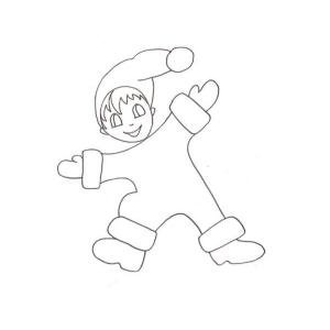 Coloriage de l'enfant lutin dessin 7.  Un coloriage de Noël à imprimer