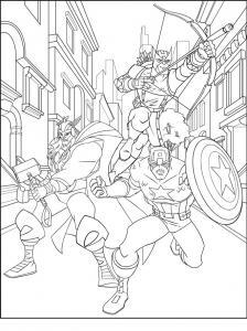 Coloriage Des Avengers