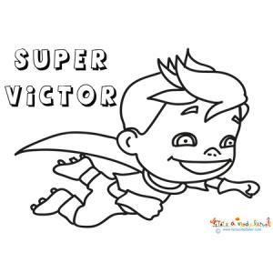 Coloriage de super Victor Euro 2016