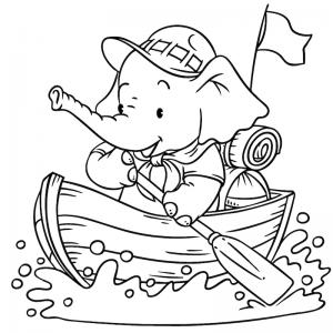 Voici un coloriage de vacances à la mer. Un dessin à imprimer pour les amoureux de la saison estivale.