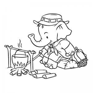 Voici un coloriage de vacances d'été. Un dessin à imprimer pour les amoureux de la saison estivale.