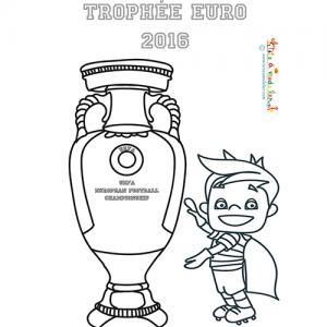 Coloriage de Victor et la coupe de l'Euro 2016