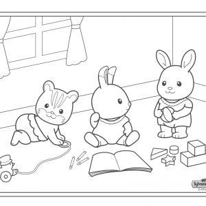Un dessin à imprimer à la crèche de sylvania où les enfants s'amusent