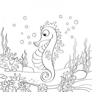 Voici un coloriage d'été sur le thème des vacances à la mer. Un dessin à imprimer pour les amoureux de la saison estivale.