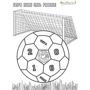 Coloriage du ballon coupe d'Europe 2016