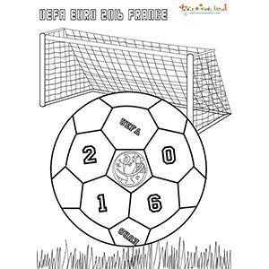 Coloriage du ballon coupe d'Europe 2016