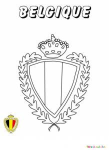 Coloriage du blason de foot de Belgique