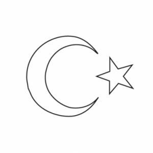 Coloriage du drapeau de la Turquie