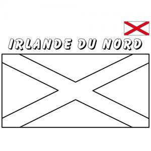 Coloriage du drapeau de l'Irlande du Nord