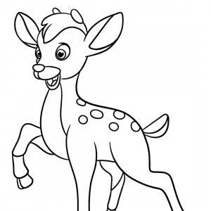 Retrouvez un coloriage de cerf ! Un dessin à imprimer gratuitement sur le thème des animaux de la forêt - Page 03