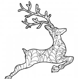 Retrouvez un coloriage de cerf ! Un dessin à imprimer gratuitement sur le thème des animaux de la forêt - Page 11