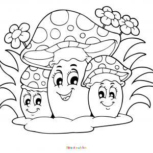 Voici un coloriage d'un champignon à imprimer gratuitement. Un joli dessin à colorier sur le thème de l'automne et de la nature. Modèle 02