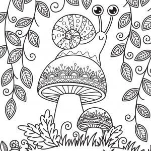 Voici un coloriage d'un champignon à imprimer gratuitement. Un joli dessin à colorier sur le thème de l'automne et de la nature. Modèle 04