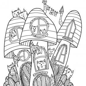 Voici un coloriage d'un champignon à imprimer gratuitement. Un joli dessin à colorier sur le thème de l'automne et de la nature. Modèle 08