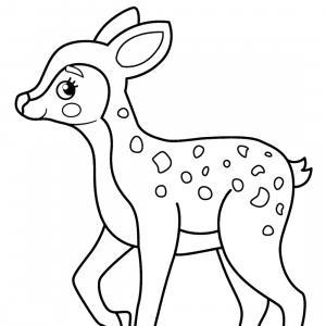 Retrouvez un coloriage de faon ! Un dessin à imprimer gratuitement sur le thème des animaux de la forêt - Page 11