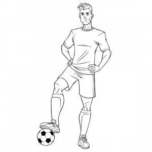 Coloriage d'un footballeur