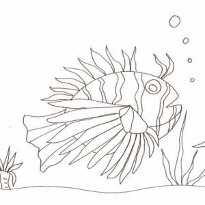 Imprimer le coloriage d'un gros poisson herisson Imprimer le coloriage d'un gros poisson herisson