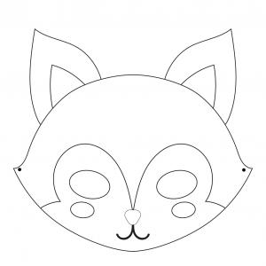 Imprimer le coloriage le  masque de renard . Masque à imprimer et à colorier pour le carnaval