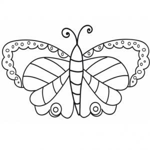 Un joli papillons qui n'a pas encore terminé sa transformation : il lui manque la couleur. C'est à toi de transformer ce papillon en papillon multicolore !