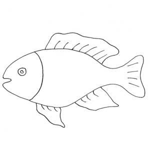Imprimer le coloriage d'un poisson d'avril 4. Un poisson à imprimer pour le 1er avril