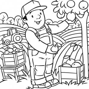 Voici un coloriage de pommier à imprimer gratuitement. Un dessin à imprimer sur le thème de l'automne et de la nature. Modèle 04