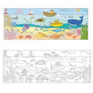 Coloriage d'une fresque géante sur la mer