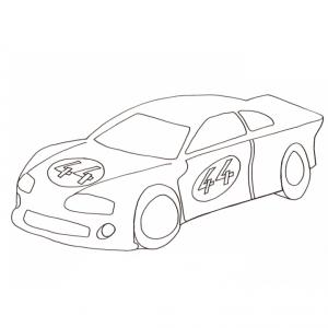 Coloriage d'une voiture de course de rallye
