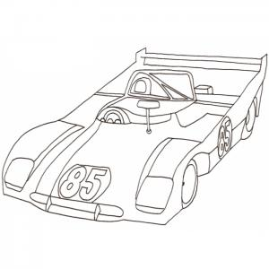 Coloriage voiture de course t te modeler - Voiture de sport a colorier ...