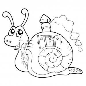 Voici un coloriage d'escargot à imprimer gratuitement. Un dessin d'escargot à imprimer pour tous les petits amoureux des animaux. Page 04