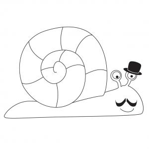 Voici un coloriage d'escargot à imprimer gratuitement. Un dessin d'escargot à imprimer pour tous les petits amoureux des animaux. Page 05