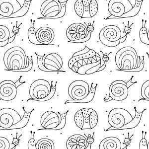 Voici un coloriage d'escargot à imprimer gratuitement. Un dessin d'escargot à imprimer pour tous les petits amoureux des animaux. Page 06