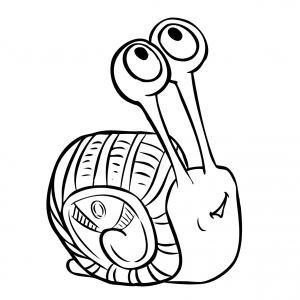 Voici un coloriage d'escargot à imprimer gratuitement. Un dessin d'escargot à imprimer pour tous les petits amoureux des animaux. Page 10