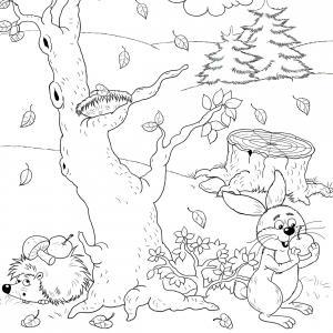 Voici un coloriage de feuilles d'arbre à imprimer gratuitement. Un dessin de feuilles à imprimer pour tous les petits amoureux des arbres et de la nature. Page 01