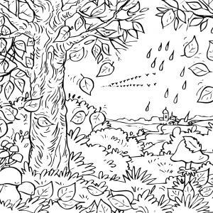 Voici un coloriage de feuilles d'arbre à imprimer gratuitement. Un dessin de feuilles à imprimer pour tous les petits amoureux des arbres et de la nature. Page 08