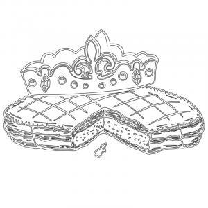 Voici un coloriage de galette des rois. Un dessin à imprimer gratuitement pour tous les petits amoureux de l'épiphanie et du jour des rois. Page 5