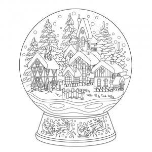 Voici un coloriage d'hiver à imprimer gratuitement. Un dessin d'hiver à imprimer pour tous les petits amoureux de la nature. Page 03