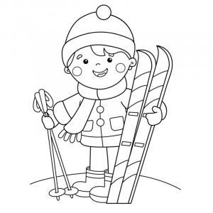 Voici un coloriage d'hiver à imprimer gratuitement. Un dessin d'hiver à imprimer pour tous les petits amoureux de la nature. Page 04