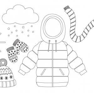 Voici un coloriage d'hiver à imprimer gratuitement. Un dessin d'hiver à imprimer pour tous les petits amoureux de la nature. Page 05