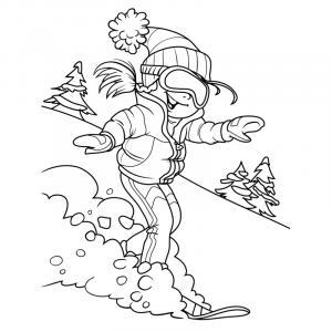 Voici un coloriage d'hiver à imprimer gratuitement. Un dessin d'hiver à imprimer pour tous les petits amoureux de la nature. Page 08