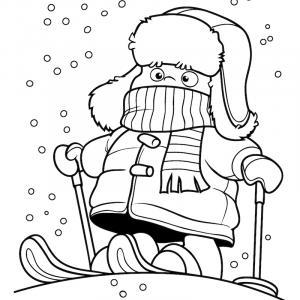 Voici un coloriage d'hiver à imprimer gratuitement. Un dessin d'hiver à imprimer pour tous les petits amoureux de la nature. Page 10