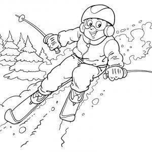 Voici un coloriage d'hiver à imprimer gratuitement. Un dessin d'hiver à imprimer pour tous les petits amoureux de la nature. Page 11