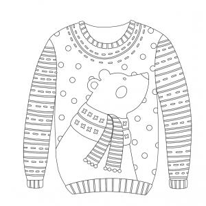 Voici un coloriage d'hiver à imprimer gratuitement. Un dessin d'hiver à imprimer pour tous les petits amoureux de la nature. Page 14