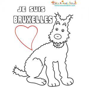 Coloriage je suis Bruxelles