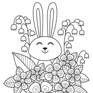 Voici un coloriage de lapin à imprimer gratuitement. Un dessin de lapin à imprimer pour tous les petits amoureux des animaux. Page 01