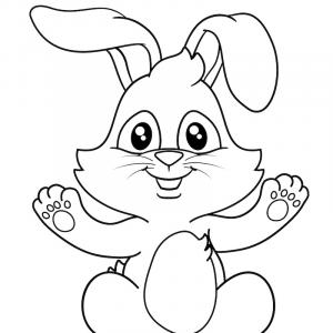 Voici un coloriage de lapin à imprimer gratuitement. Un dessin de lapin à imprimer pour tous les petits amoureux des animaux. Page 02